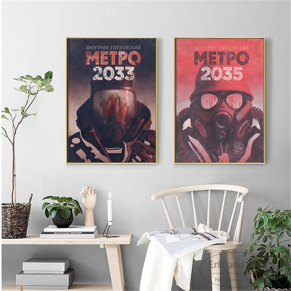 Metro Exodus 2033 Original Artwork Posters And Prints Canvas Art Decorative Wall Pictures For Living Room Home Decor Painting