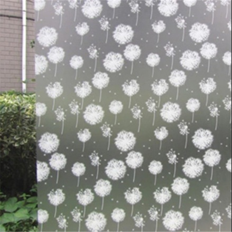 Sticky Back Plastic Vinyl Window Film Privacy Dandelions White 90cm x 1m