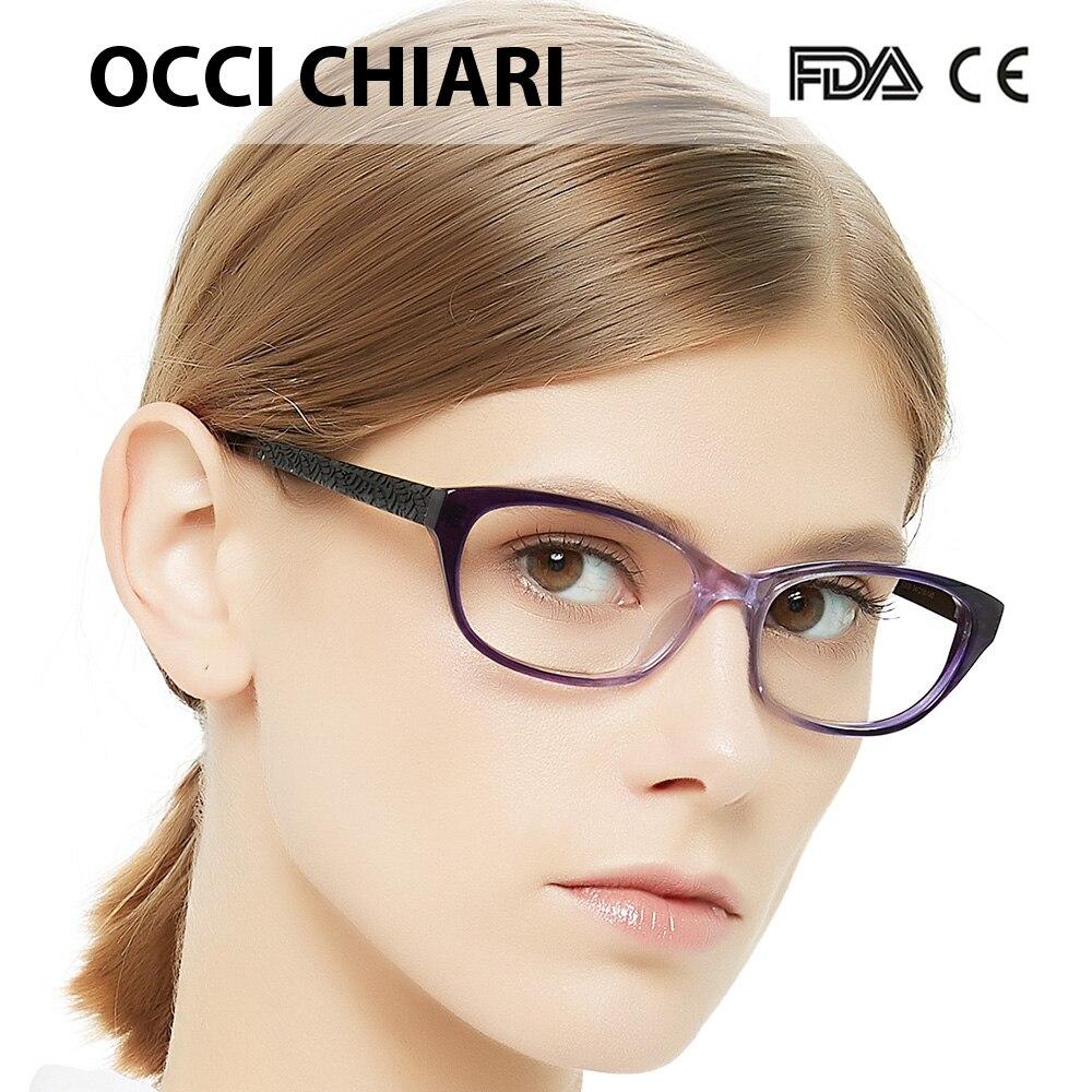 c857b95f80b9 Detail Feedback Questions about OCCI CHIARI Women Cat Eyes Style Eyeglasses  Prescription Wine Red Myopia Spectacle Student Fashion Glasses Frame Female  W ...