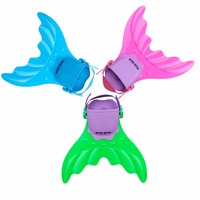 Kid Swimming Fin Children Monofin Mermaid Flippers Diving Scuba Swim Fin Foot Flippers Water Sports Training Shoes Outdoor Tools