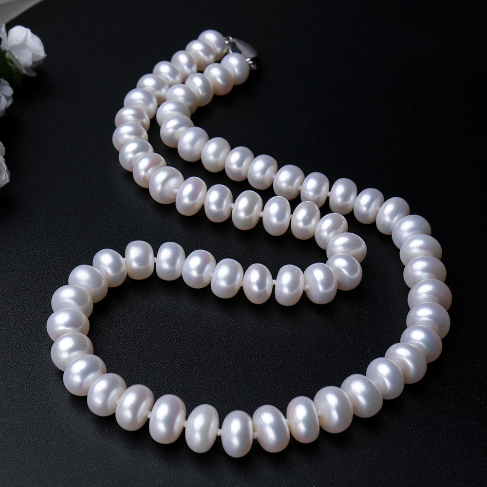 pearl white necklace akoya hanadama