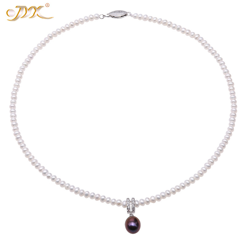 JYX Amazing charming purple natural pearl necklaces choker pearl necklace 4-5mm 100% freshwater pearl necklace 16JYX Amazing charming purple natural pearl necklaces choker pearl necklace 4-5mm 100% freshwater pearl necklace 16