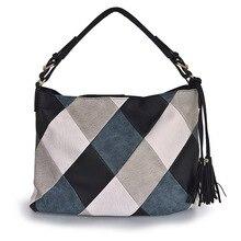 Lüks çanta kadın çanta tasarımcısı Casual Tote omuz çantaları kadınlar için 2020 Patchwork bayanlar el çantası PU deri büyük kesesi bolsa