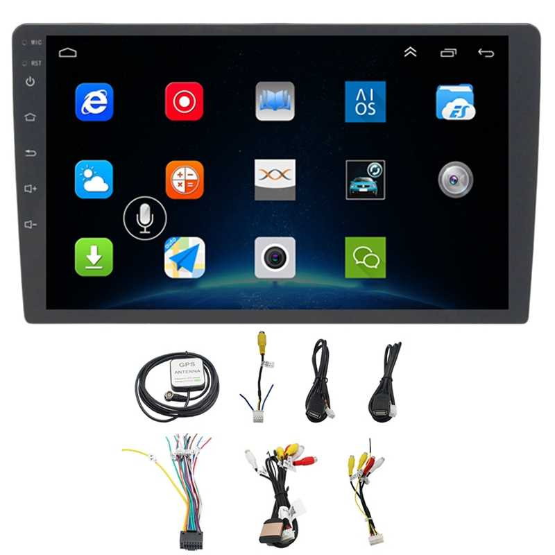 10.1 Inch Android 8.1 Mobil Bluetooth Wifi Gps Navigasi Quad-Core Radio Video Audio Multimedia Mp5 Pemain