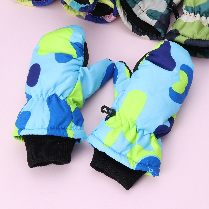 цены Baby Winter Waterproof Warm Mittens Boy Girl Kids Children Outdoor Child Gloves