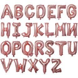16 zoll Rose Gold Alphabet Buchstaben Luftballons Kinder Geburtstag Party Dekorationen Folie Ballon Hochzeit Partei Liefert
