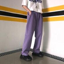 Новые Брендовые повседневные брюки с несколькими карманами, мужские свободные хлопковые тонкие брюки в стиле хип-хоп, белые/фиолетовые
