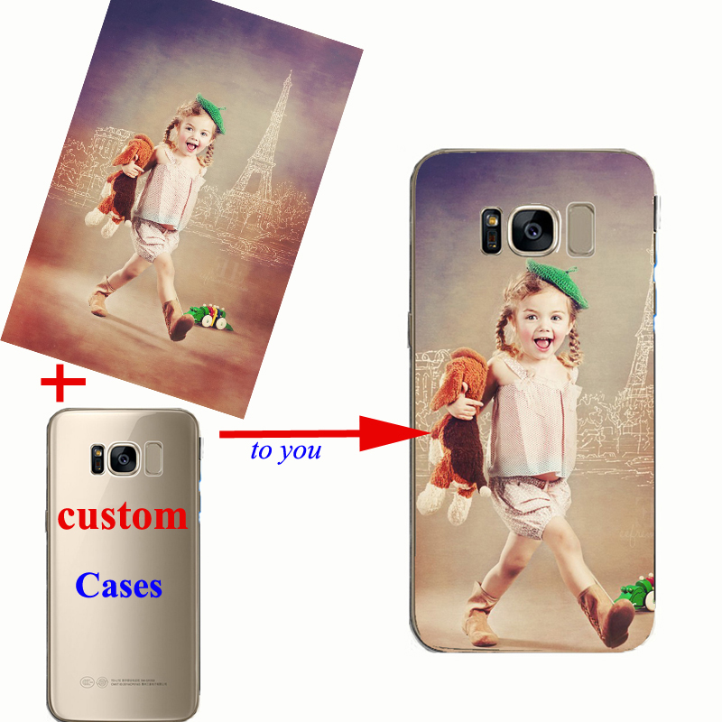 Custom Design Transparente Silicone Cover Customized Printing Cell Phone Case For Samsung s8 s9 s10 plus Note8 9 C5 C7 C9 Pro in Fitted Cases from Cellphones Telecommunications