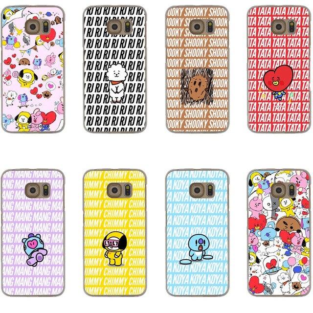 timeless design 6206b 738a6 US $1.97 40% OFF|Korean Brand Cartoon BTS BT21 Boys Hard Phone Case For  Samsung Galaxy S5 S6 S7 Edge S8 S9 Plus A3 A5 A7 2017 J1 J5 J7 2016  Note8-in ...