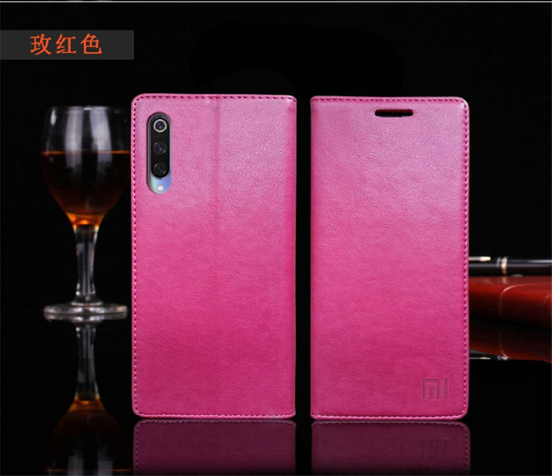 for Xiaomi Mi 9 Case Luxury Genuine Leather Flip Case for Xiaomi Mi 9 Magnetic Book Wallet Cover for Xaiomi mi9 Phone Coque Case16