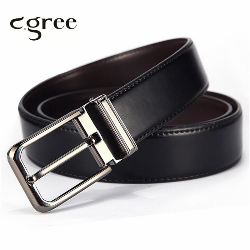 2019 Hot Automatic Pin Buckle Belts For Men New Fashion Top Genuine Leather Strap Belt Mens Classic Jeans Male Pants Belt