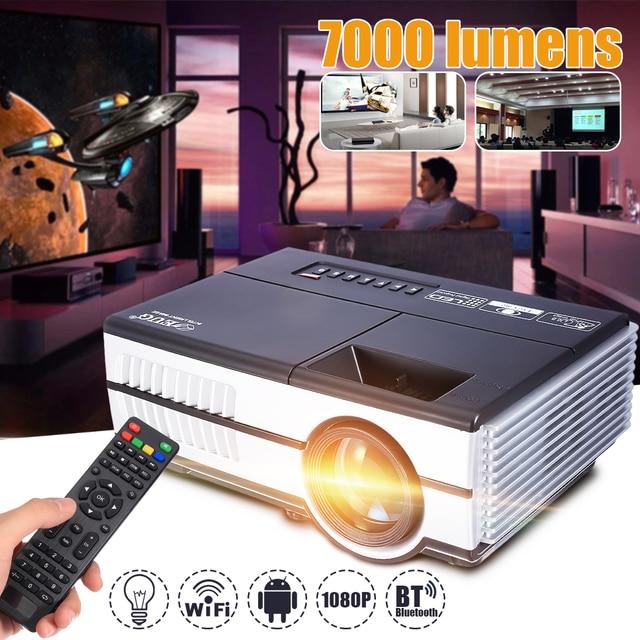 Big Sale Max 7000Lumens 1080P Full HD LED Projector 3D Home Theater Cinema LCD Wireless HDMI AV/VGA/USB/SD/HDMI/TV Multimedia Beamer