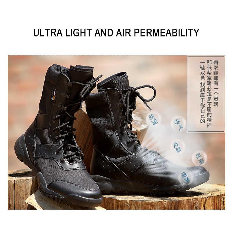 Super Lichtgewicht Waterdichte Mannen Desert Militaire Tactische Laarzen Mannelijke Schoenen Sneakers Voor Vrouwen antislip Werkkleding Klimmen Schoenen