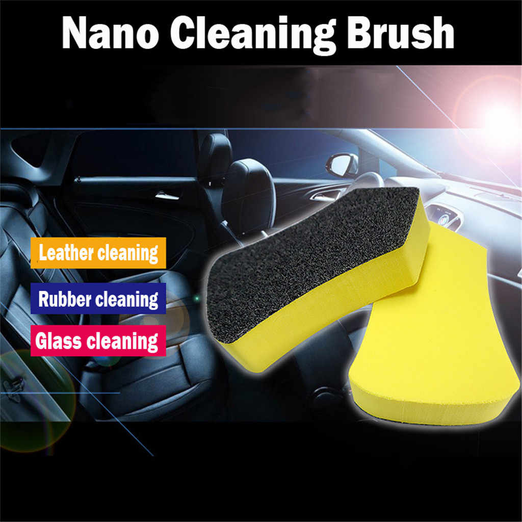 Car Leather Seat Care Detailing Clean Nano Brush Auto Interior Wash Accessories  Perfect for car cleaning washing and polishing