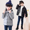 Roupas de inverno 2016 das crianças meninos meninas acolchoado casacos sólidos engrosse velo do bebê para baixo casacos para meninos das meninas crianças outerwears