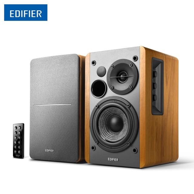 "Edifier R1280DB Wireless Bluetooth Speaker Studio Active Bookshelf Speaker With 4"" Bass Driver Dual RCA Inputs Wooden Speakers"