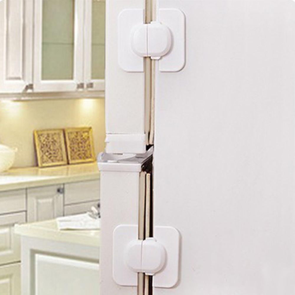 Kids Child Baby Safety Door Lock Proof Cupboard Fridge Cabinet Prevent Clamping