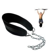 Crossfit Weight Lifting Belt Adjustable Mengangkat Bobot Musculation Bodybuilding Dip Belt Fitness Gym Workout Pull Up Chain Belt