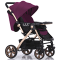 Pode ser usado no verão e inverno Carrinho de Bebê Dobrável Alta Paisagem Carrinho De Bebê em dois-maneira de Sentar e Deitar Quatro Rodas