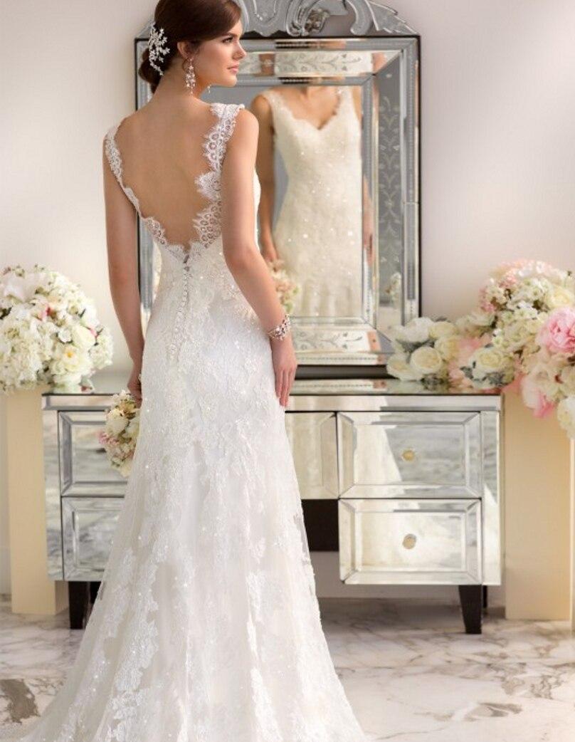 Moderne Vintage Hochzeit Kleid 2016 Sexy Spitze Backless ...