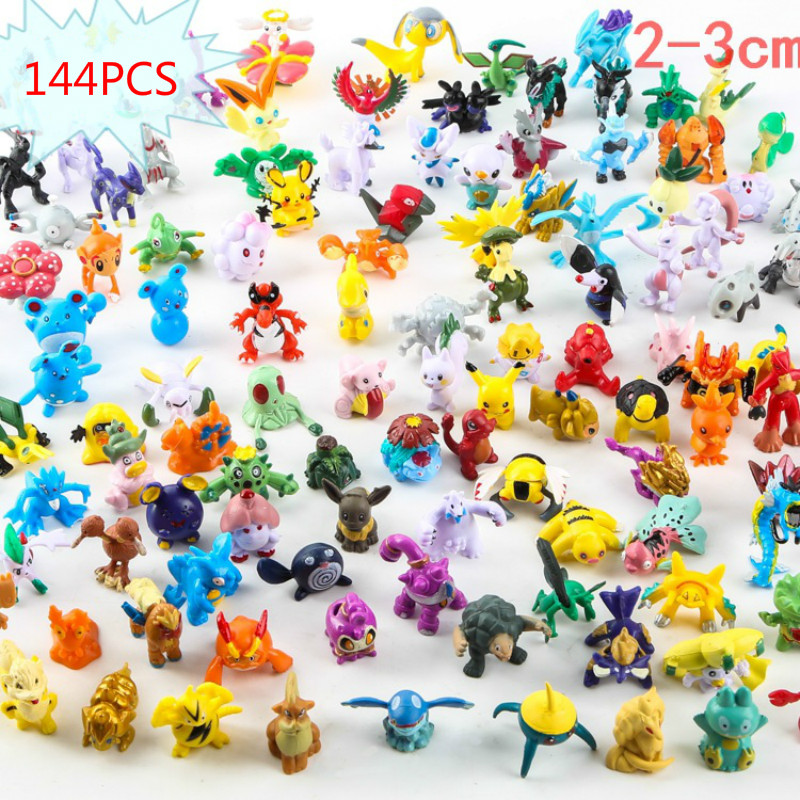144PCS Pokemons Action Figure Toys 2-3cm Pikachu Doll Decoration Childrens Birthday Gift Anime Toy Puppets Gifts for Children144PCS Pokemons Action Figure Toys 2-3cm Pikachu Doll Decoration Childrens Birthday Gift Anime Toy Puppets Gifts for Children