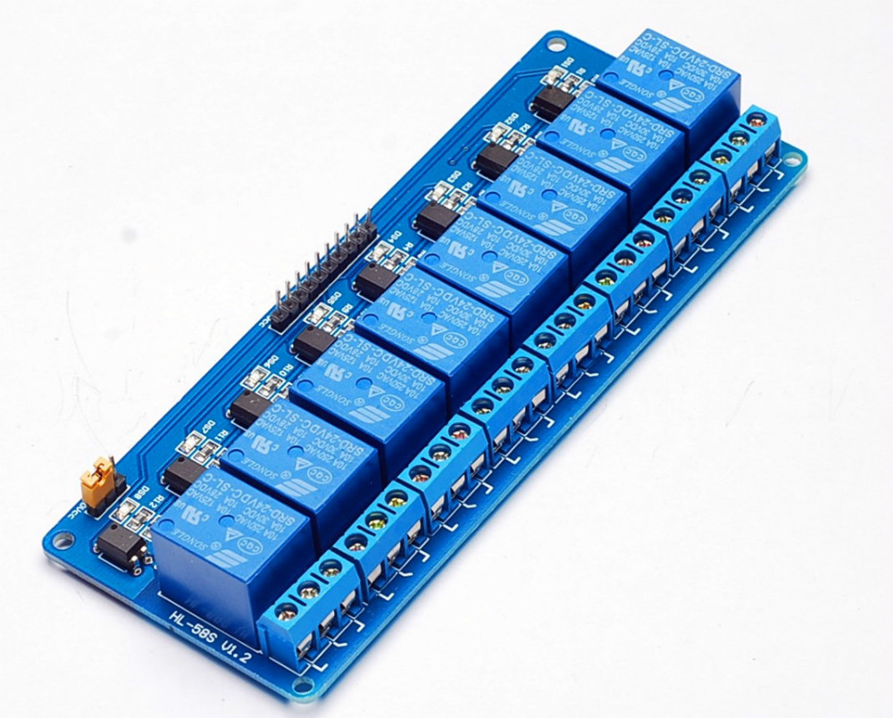 1PCS 8 Channel 12V Relay Module Control Panel 8Channel 12V Low level ...