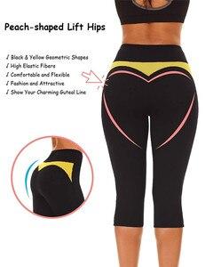 Image 2 - NINGMI ince pantolon karın kontrol külot zayıflama kısa neopren ter vücut şekillendirici egzersiz bel eğitmen Butt kaldırıcı sıkı kapriler