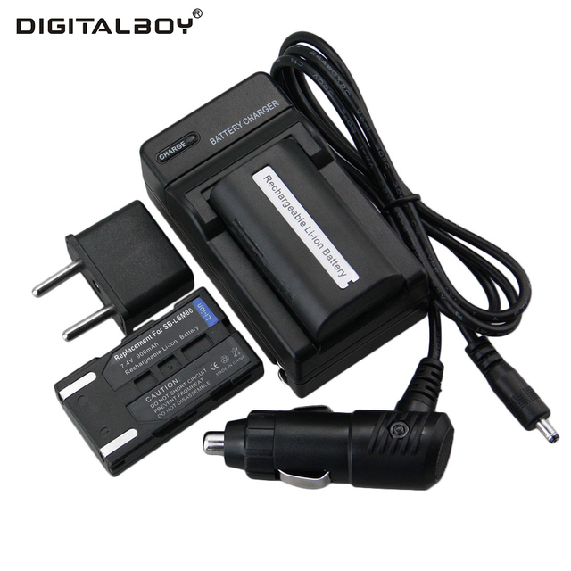 4ce043742b69 Hot !2pcs Battery+Charger SB-LSM80 SB LSM80 SBLSM80 Rechargeable Camera  Battery For