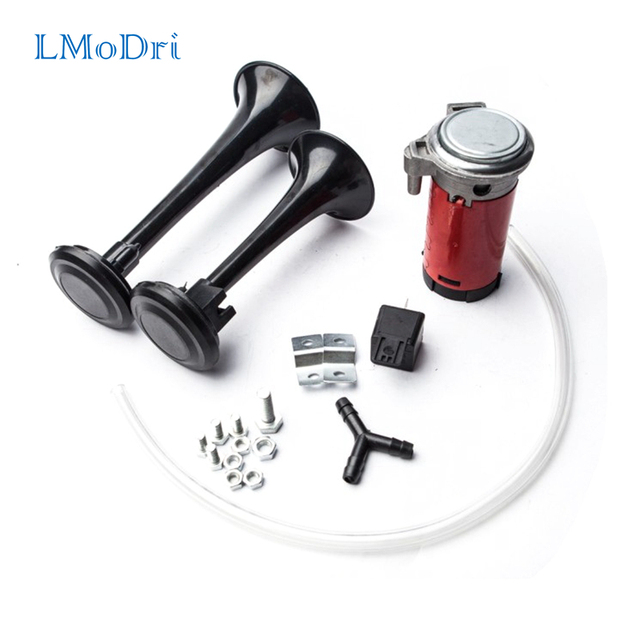 LMoDri Loud Dual Trumpet Air Horn 12 Volt 135dB Car Truck RV Train Boat Motorcycle Replacement Part Hot Sell Good Quality