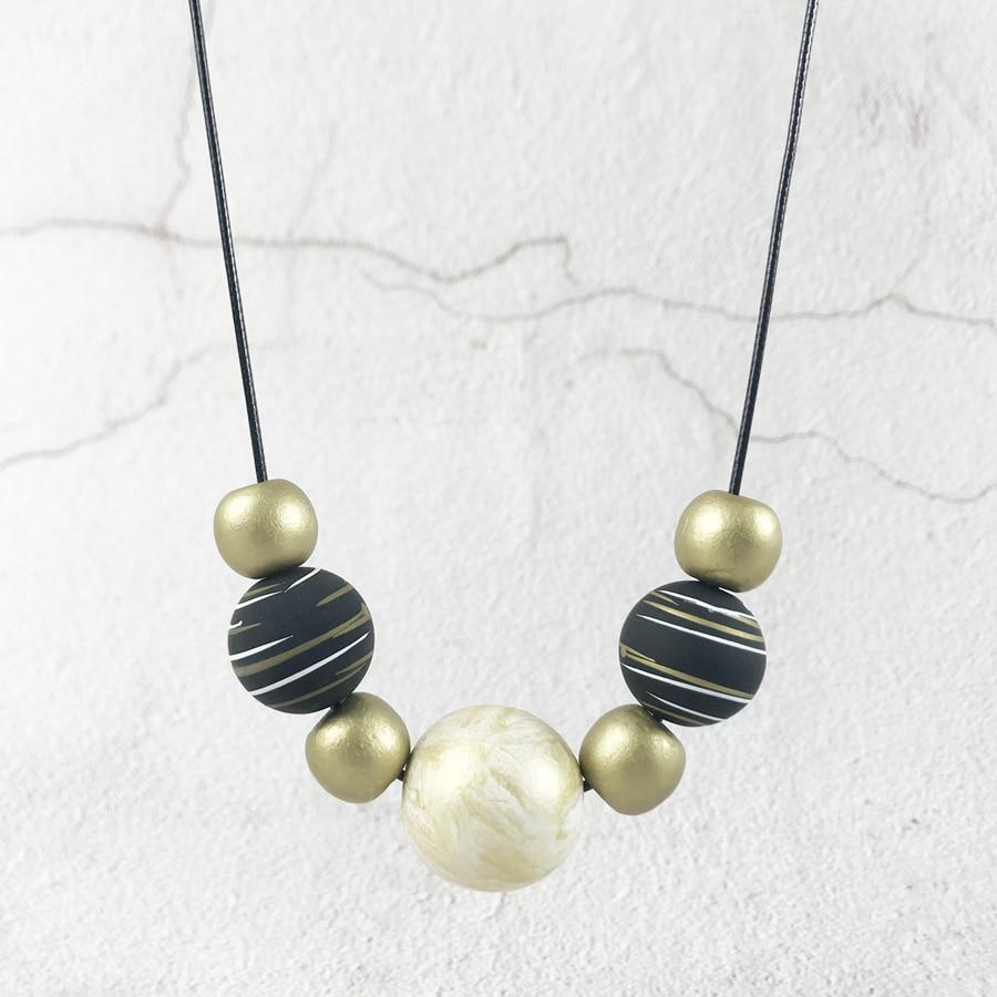 Wooden Round Necklace Hand...