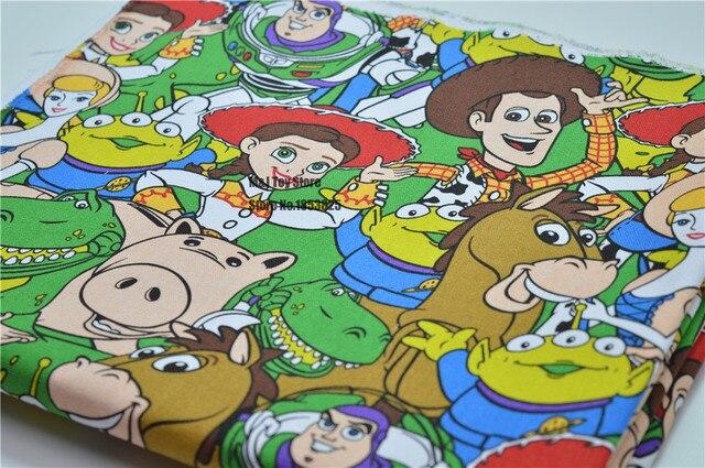 90145 Cm Patchwork Leinwand Nähen Stoff Cartoon Toy Story Stoff Für