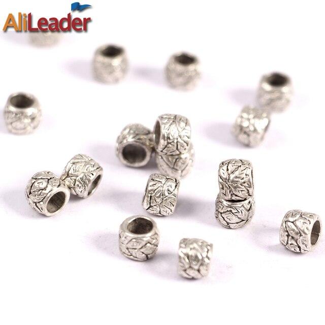 Alileader cuentas de plata Dreadlock para trenzas de ganchillo ...