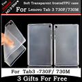 Ultra-fino fosco transparente macio tpu caso capa para o lenovo tab3 7 tb3-730f/730 m 7 polegada tablet pc + presente