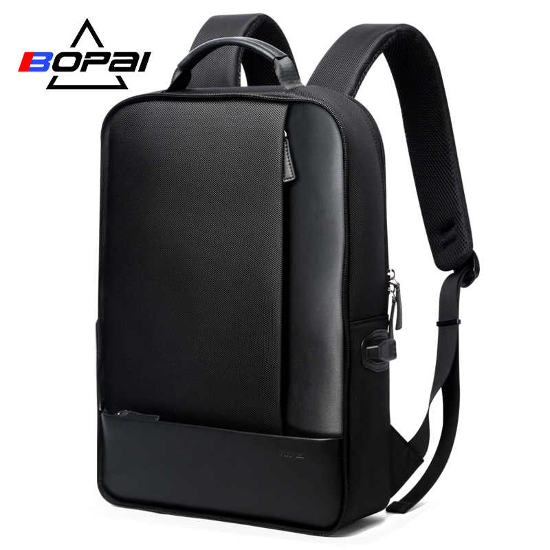 93ddecb41bc5 BOPAI Detachable 2 in 1 Laptop Backpack USB External Charge Shoulders  Anti-theft Backpack Waterproof