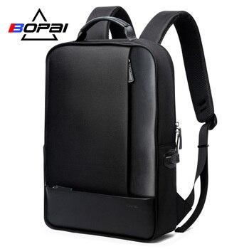 BOPAI Detachable 2 in 1 Laptop Backpack USB External Charge Shoulders Anti-theft Backpack Waterproof Backpack Men for 15.6 inch laptop bag