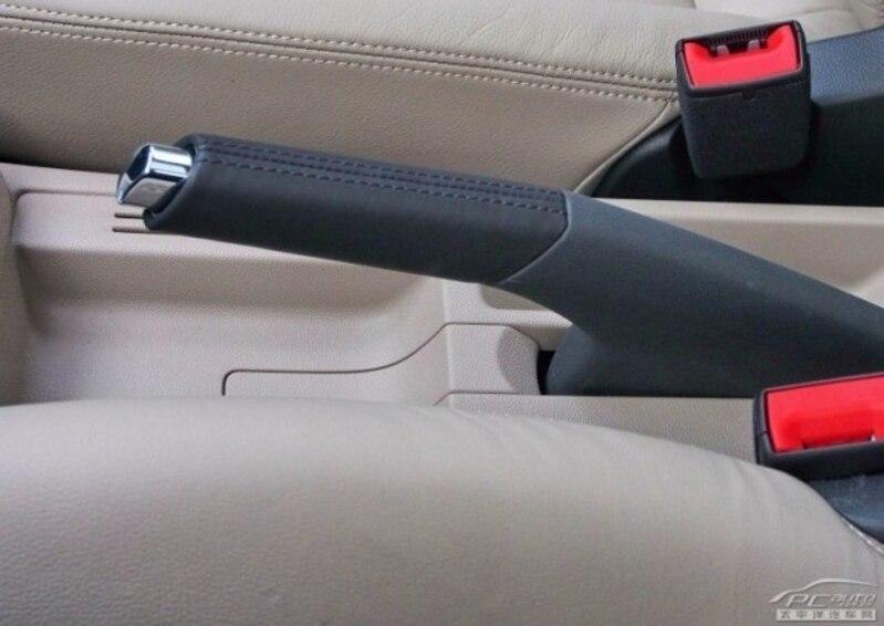 OEM New Polo GTI CROSS new Santana Jetta Xin Rui modified leather hand brake sheath handbrake handle bright button cover