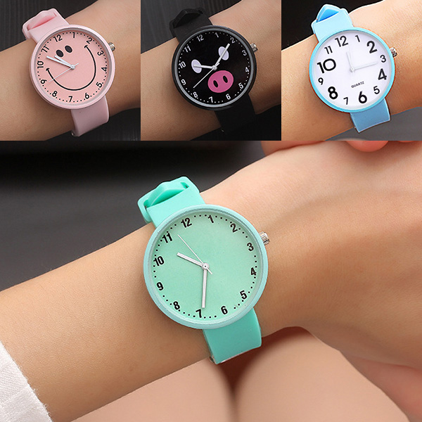 New Silicone Wrist Watch Women Watches Ladies Top Fashion Quartz Wristwatch For Woman Clock Female Hours Relog Montre Femme D45