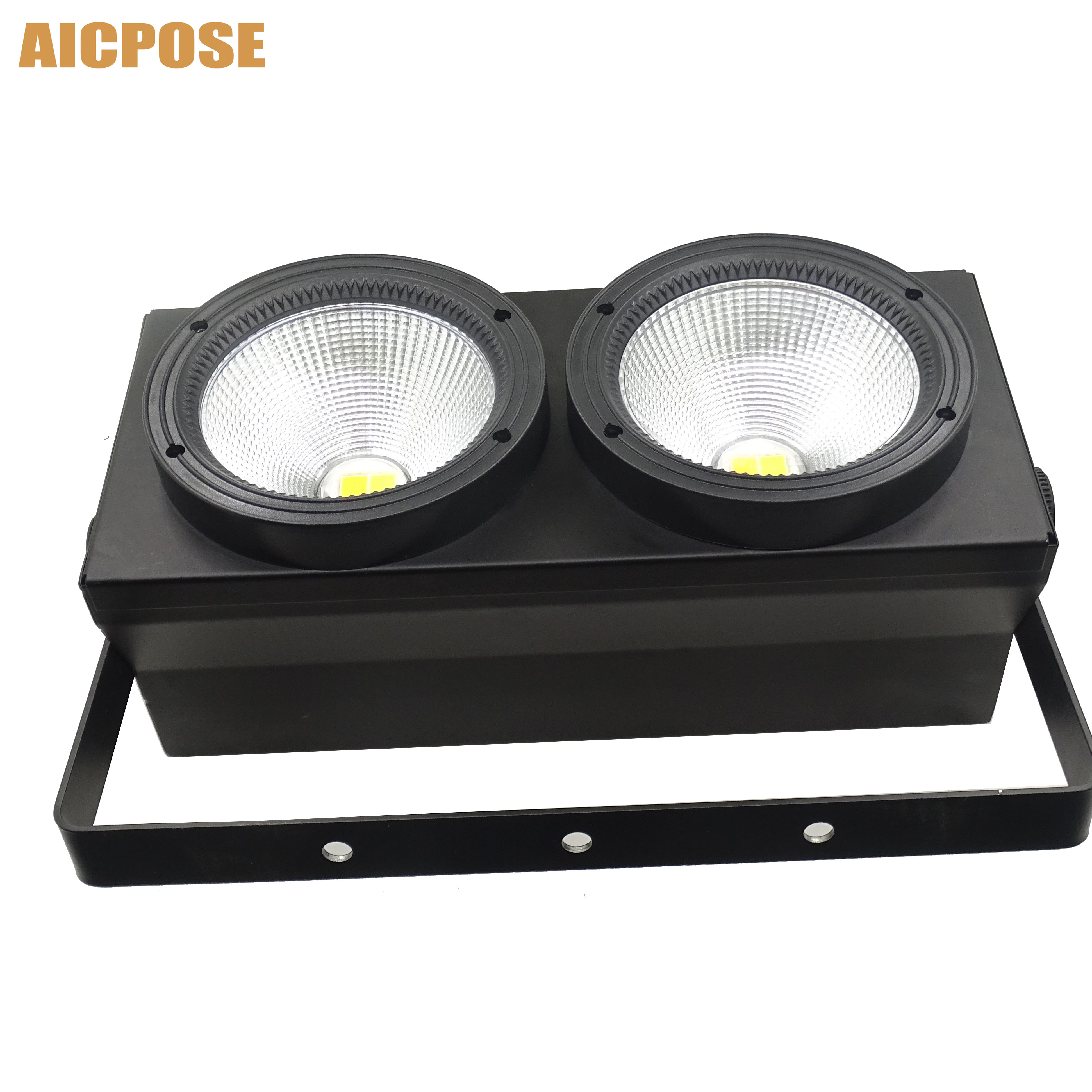 2 Eyes LED COB Blinder Light Cold White/Warm White 2in1 COB LEDs Control Optional Individually 2x100W Audience Light