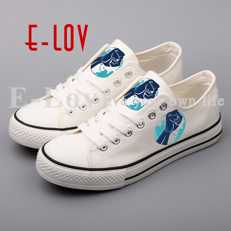 E-LOV Brand Low Top Printed Canvas Shoes Women DIY Human Right Design Casual Walking Shoes For Lovers Best Valentine Gift e lov hand painted casual canvas shoes diy custom graffiti animals flat shoe women oxford shoes sapatos feminino