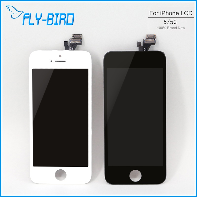A Quality Capa Display Screen 10PCS/LOT For iPhone 5 LCD With Original Assembly Replacement Free Shipping