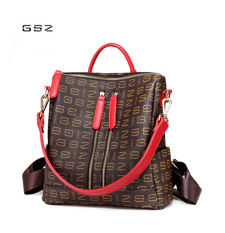 2018 new korean wild shoulder bag Genuine Leather female bag large capacity ladies travel backpack free shipping