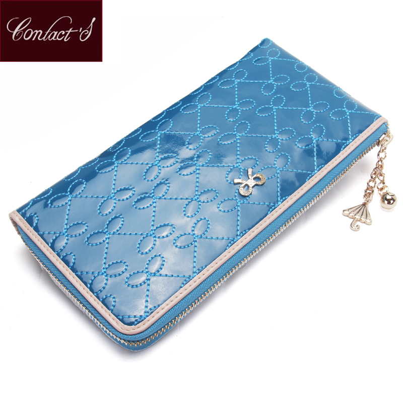 Women Casual Clutch Patent Leather Party Day Clutches Band Handbag For Long Ladies Evening Bag With Card Holder Mobile Phone