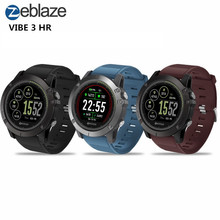 Zeblaze VIBE 3 HR Smartwatch IP67 Waterproof Wearable Device HeartRate Monitor IPS Color Display Smart Watch For Android IOS