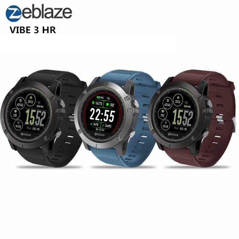 Zeblaze VIBE 3 HR Smartwatch IP67 Wasserdichte Tragbare Gerät Herzfrequenz Monitor IPS Farbe Display Smart Uhr Für Android IOS