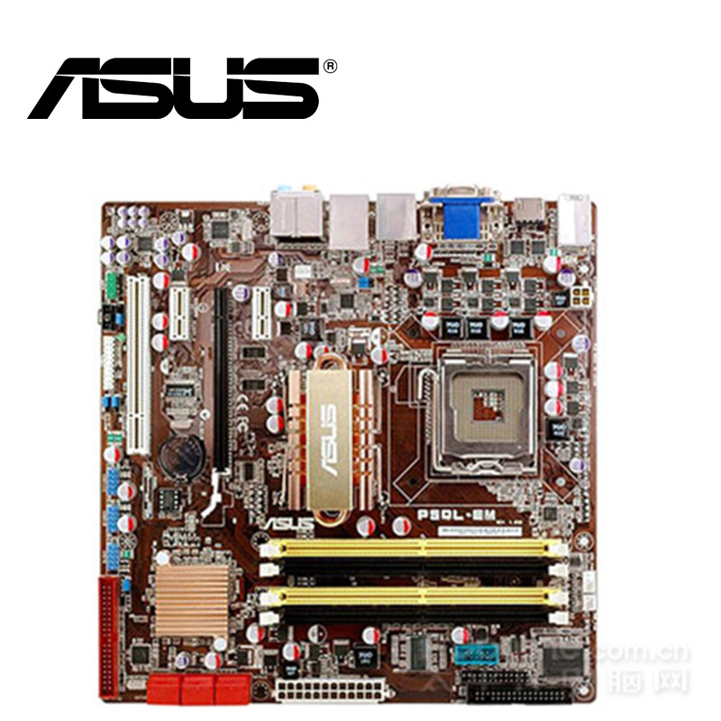 Asus Desktop Mainboard Lga 775 G43-Socket Q8200 Q8300-Ddr2 P5QL-EM Used 8G BIOS UEFI