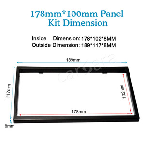Image 2 - Car 2 Din 178mm*100mm Dashboard Universal Installation Fitting Frame Mounting Kit Set Fascia for 6.2 7 Radio Player