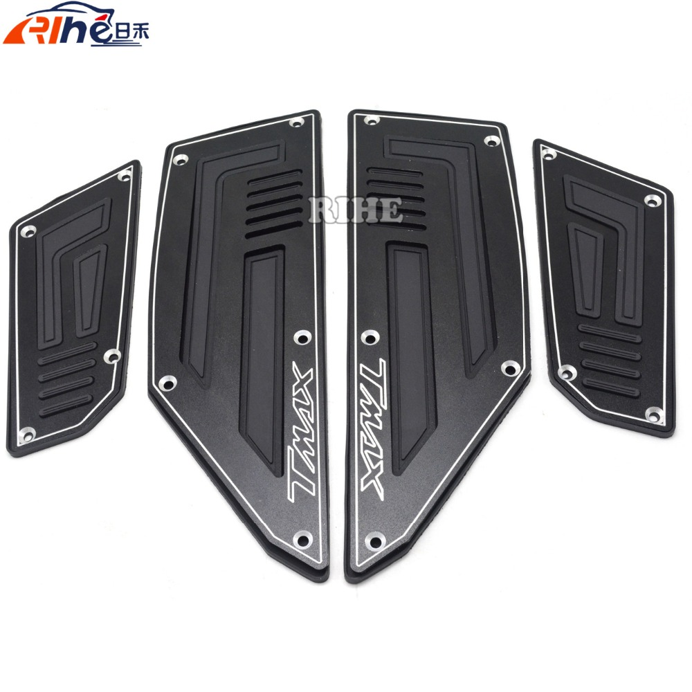 Motorcycle CNC Front and Rear Motorbike Footboard Steps Foot Pegs Plate set for YAMAHA TMAX530 2012 2013 2014 2015 2016 TMAX 530 cnc aluminum motorcycle rear passenger foot pegs pedals footrests for yamaha tmax 500 tmax 530 t max500 t max530 t max mt07 mt09