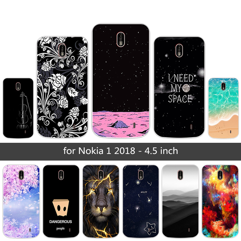 best website 0a1d0 b9703 for Nokia 1 2018 Full Protective Ultrathin Phone Back Sunrise Case 4.5inch  for Nokia One 2018 Transparent Gel Protector TPU Capa