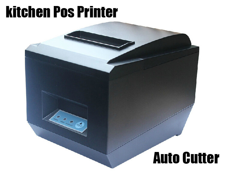Kitchen thermal printer 80mm pos receipt printer with cutter and optional USB, bluetooth, wifi, Ethernet interface zj-8250