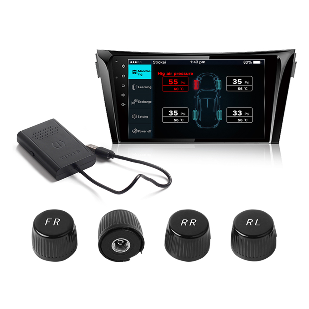 Car TPMS Android Tire Pressure Monitoring System for Android OS DVD Player USB Interface tpms tyre pressure monitoring system for car android dvd gps radio player car stereo